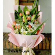夫妻鲜花,完美的幸福