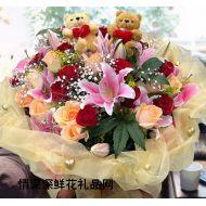 生日鲜花,情丝万缕
