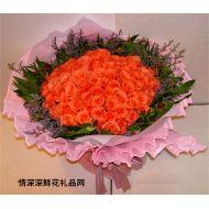深圳鲜花,天长地久(99枝)