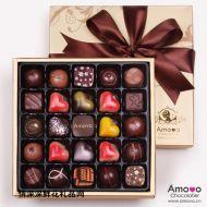 精美巧克力,AMOVO 情人节礼盒25颗装