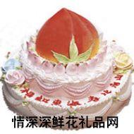 生日蛋糕,蟠桃贺寿