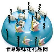 奶油蛋糕,【好利来】蓝色岛屿