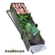 礼盒花束,粉玫瑰礼盒