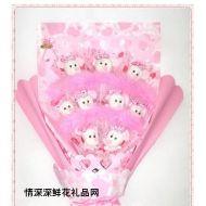 小熊花束,米妮单面花束