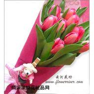 元旦鲜花,爱的箴言