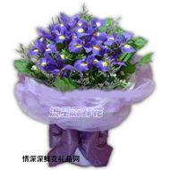 礼盒花束,紫色的梦