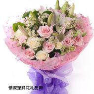 夫妻鲜花,给你轻松