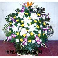 清明节鲜花,悼念花篮6