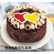 巧克力蛋糕,心相印
