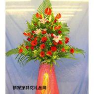 商务鲜花,港式艺术花蓝(1)