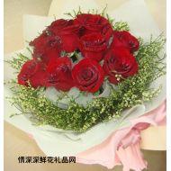 生日鲜花,真的想你