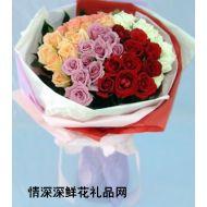 夫妻鲜花,爱恋永恒