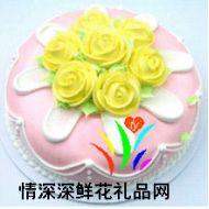 情人蛋糕,黄玫瑰