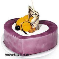 生日蛋糕,紫海洋之心(10寸)