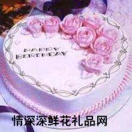 精品蛋糕,喜�庋笱螅�10英寸)