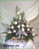 清明节鲜花,悼念花篮12