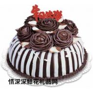 巧克力蛋糕,生日快��