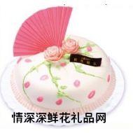 鲜奶蛋糕,春园花飞