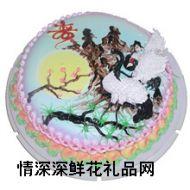 祝寿蛋糕,松鹤延年