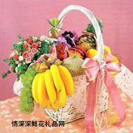水果礼篮,心的祝福