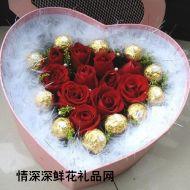 情人节鲜花,玫瑰月色中的相思-情人情精品