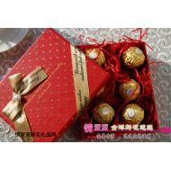 圣诞节鲜花,圣诞生日精美小巧费列罗巧克力礼盒