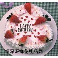 生日蛋糕,快乐的生日(10英寸)