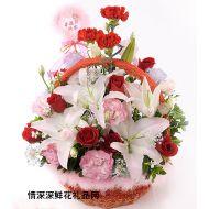 亲情鲜花,幸福的亲情